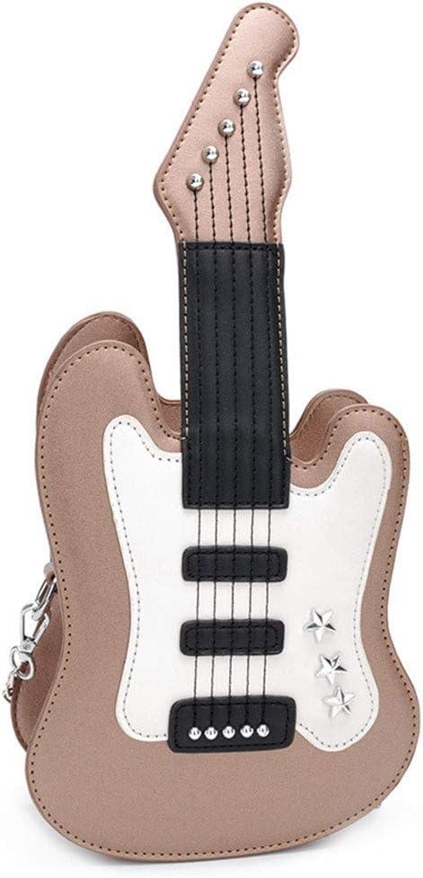 WEISHAZI - Bolso bandolera de piel sintética con forma de guitarra ...