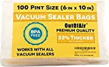 vacuum sealer bags pint - 100 Vacuum Sealer Bags: Pint Size (6