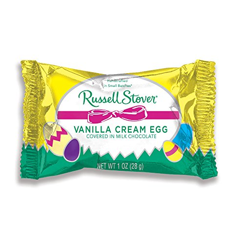 Russell Stover Easter - Russell Stover Milk Chocolate, Vanilla Cream Egg, 1 oz, 36Count