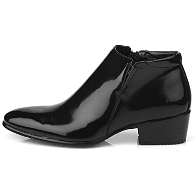 Amazon New Mens Dress Leather Shoes Formal Casual Black Ankle