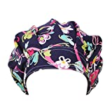 starlit Women's Floral Print Scrub Cap Hospital Medical Surgical Surgery Hat for Doctor Nurses