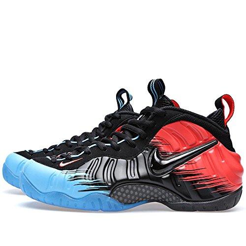 Zapatillas De Baloncesto Nike Air Foamposite Pro Prm Spiderman Para Hombre Vivid Blue / Black-crimson 616750-400