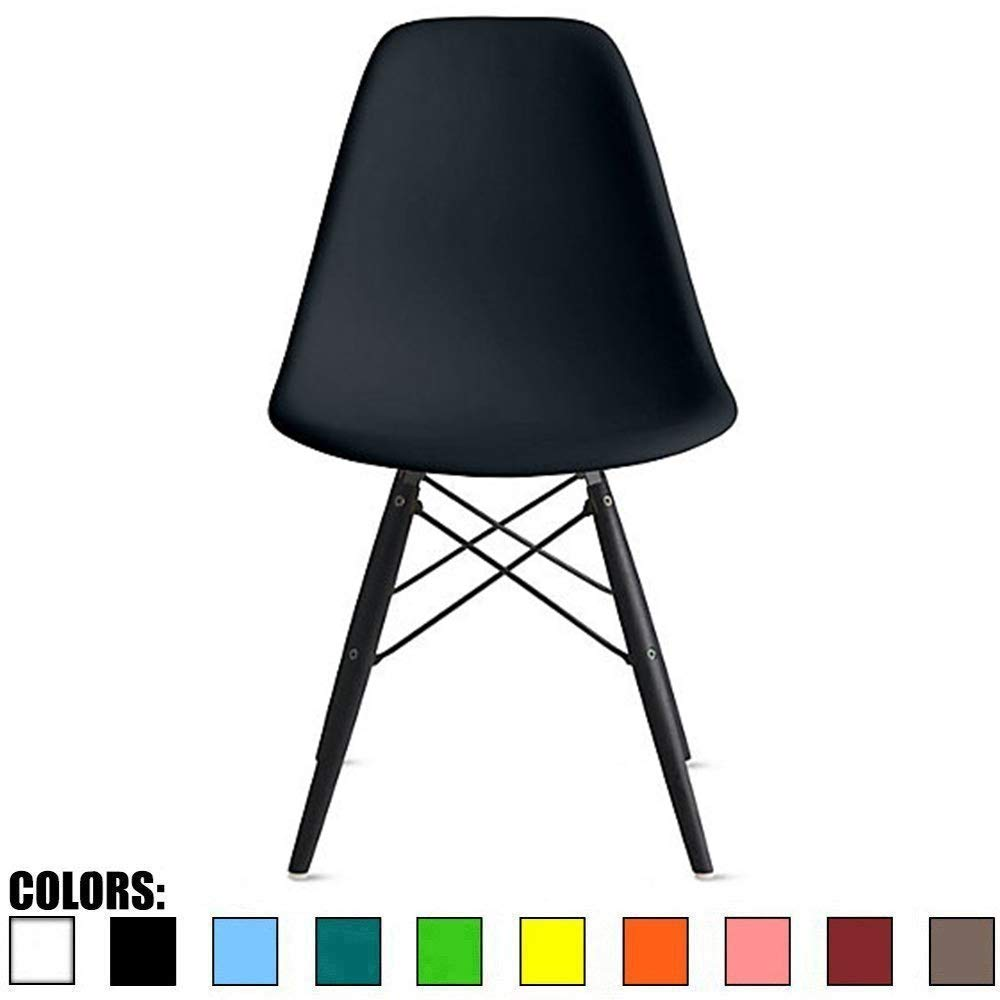 2xhome Eames Side BLK Leg(Black) Dining Chair