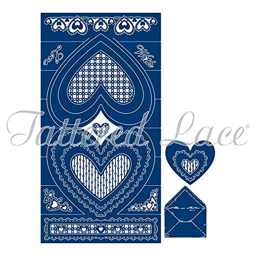 (Tattered Lace Shaped Heart Stepper Die Set 436340)