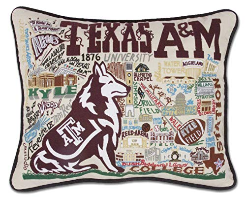 Catstudio- Texas A&M University Embroidered Throw Pillow - 16