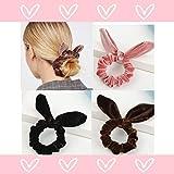 QIMOSHI 20 Packs Hair Scrunchies Velvet Scrunchy