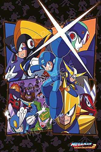 "Price comparison product image PremiumPrintsG - Mega Man Legacy Collection 2 PS4 Xbox One Switch 3DS Poster - XNVG263 Premium Decal 11"" x 17"" (28 cm x 43 cm)"