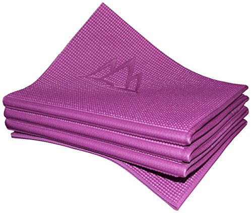 Khataland YoFoMat - Best Travel Yoga Mat - Magenta, Extra Long 72