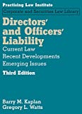img - for Directors' and Officers' Liability: Current Law, Recent Developments, Emerging Issues book / textbook / text book