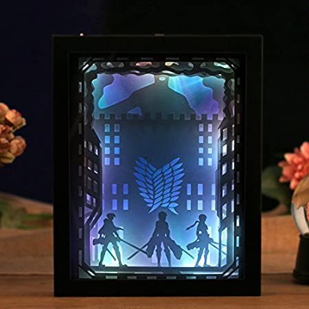 3D Shadow Box Led light night lamp, Papercut Light boxes, Decorative