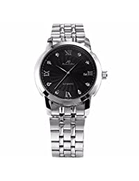 ++Canaloha:)++ KS Men's Automatic Mechanical Date Date Display Stainless Steel Analog Dress Watch