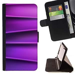 For HTC One M7 Case , Líneas de seda lisa patrón- la tarjeta de Crédito Slots PU Funda de cuero Monedero caso cubierta de piel