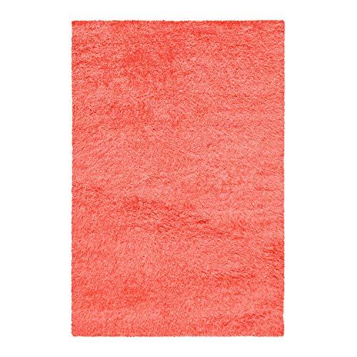 Superior Textured Shag Area Rug, Spiced Coral, 6' x 9'
