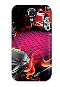 High-quality Durability Case For Galaxy S4(drawn S Cars And A Girl)