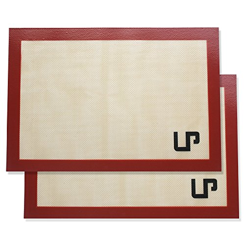 LP Placemats Silicone Baking Mat Set, Non Stick Silicon Liner for Bake Pans & Rolling Pastry_Cookie_Bun_Bread