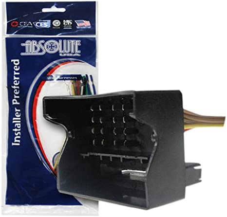 bmw 2002 wiring harness amazon com absolute usa h1010 9003 radio wiring harness for bmw  absolute usa h1010 9003 radio wiring