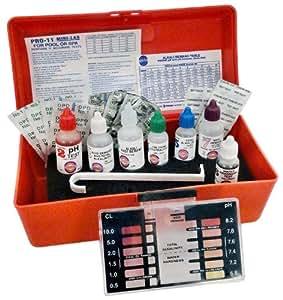 Pentair r151716 pro 11 professional mini lab swimming pool liquid test kits for Swimming pool test kits amazon