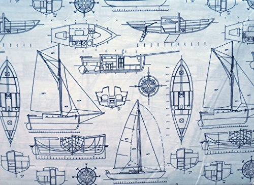Max Studio Kids 3 Piece Kids Twin Sheet Set Navy Nautical, used for sale  Delivered anywhere in USA