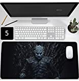 Game of Thrones Mouse Pad,Professional Large Gaming Mouse Cushion,Extended Size Desk Mat Non-Slip Rubber Mouse Mat (900 x 400 x 3 mm / 35.5'' x 15.5'' x 0.12'', 5)