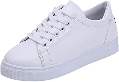 beautyjourney Zapatillas de Deporte Planas para Mujer Zapatos Deportivos Blancos Bordado de Dibujos Animados Gato Zapatillas de Punta Redonda Calzado Casual Ligero para Correr: Amazon.es: Ropa y accesorios