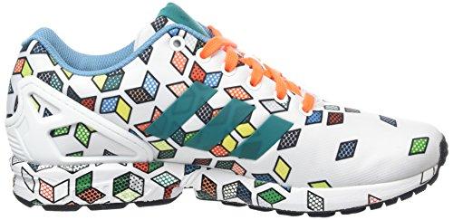 adidas ZX Flux - Zapatillas Hombre Schwarz (Ftwr White/Ftwr White/Solar Orange)