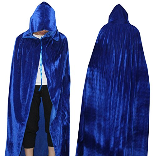 Lady Black Target Friday Costume (LadyKing Halloween Adults Witch Cloak Wizard Cape Unisex Dress Up Costumes Cosplay L)