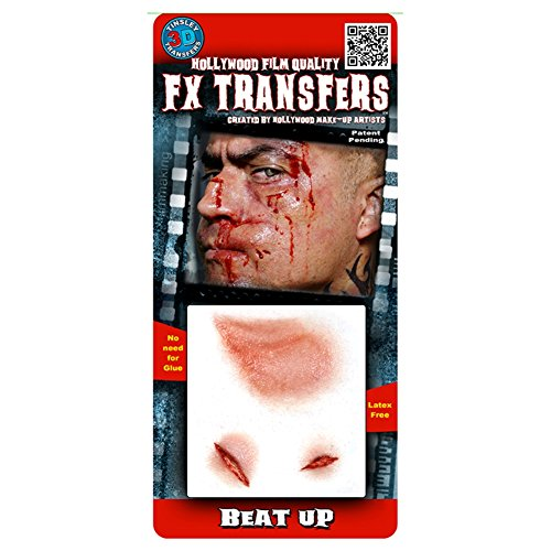 Beat Up Face Costume (Tinsley Transfers  Beat Up, Flesh/Multi, One Size)