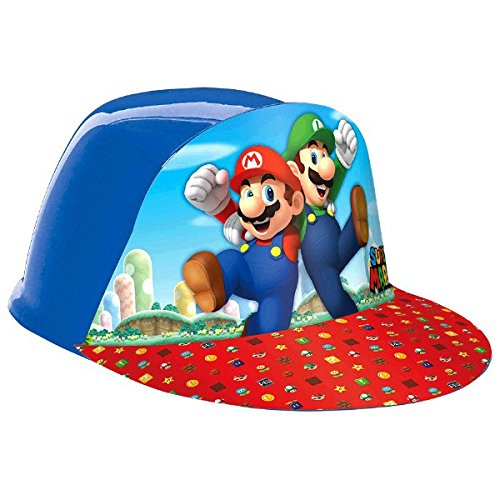 """Discount Amscan Super Mario Brothers Birthday Party Vac Form Cap Accessory, Multicolor, 4"""" x 6 1/2"""" x 10"""" free shipping"""