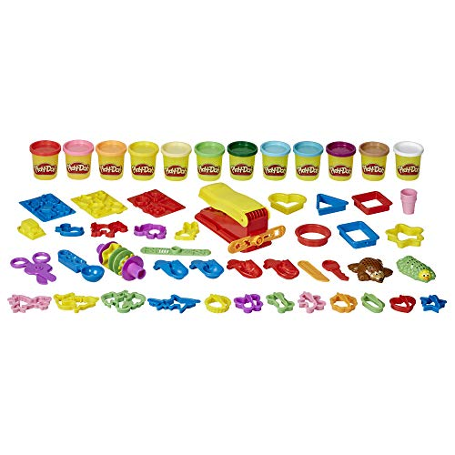 Play-Doh Ultra Fun Factory Bundle Multipack 47-Piece Set for Kids 3 Years and Up with 12 Modeling Compound Colors, 3 Ounces Each, Non-Toxic (Amazon Exclusive)