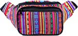 SoJourner Festival Fanny Pack - Boho Packs for men, women | Cute Waist Bag Fashion Belt Bags (orange horz)