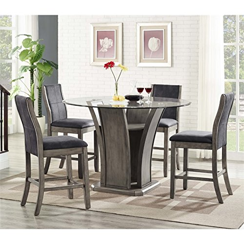 Picket House Furnishings Dylan 5 Piece Round Counter Height Dining Set -