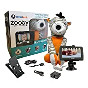 Infanttech Award Winning Zooby 4.3  Video and Audio Baby Monitor (Zebra) - The Baby Monitor for Home, Cars and On the Go