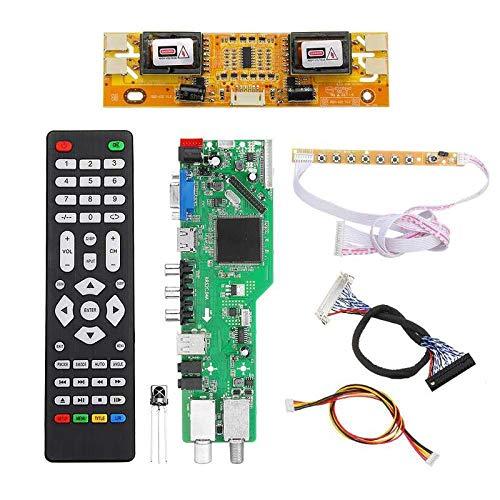 5 OSD Game RR52C.04A Support Digital Signal DVB-S2 DVB-C DVB-T2/T ATV Universal LCD Driver Board USB Play Media 30Pin 6 Bit