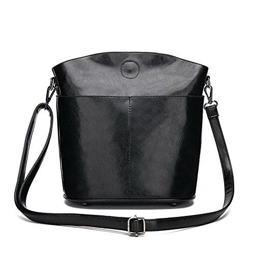 tout fourre Sacs Fête seau Noir bandoulière Style AalarDom TSFBH181209 Sacs à de Femme Noir 4f1xqFUwH