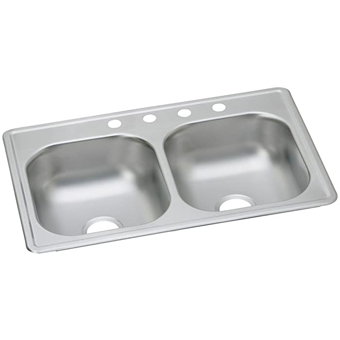 Dayton D233194 Equal Double Bowl Top Mount Stainless Steel Sink