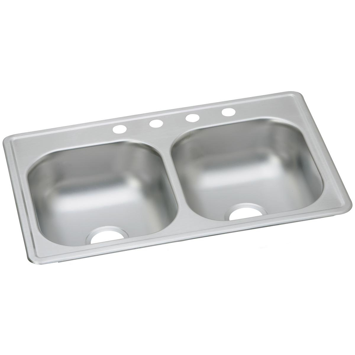 Dayton D233193 Equal Double Bowl Top Mount Stainless Steel Sink