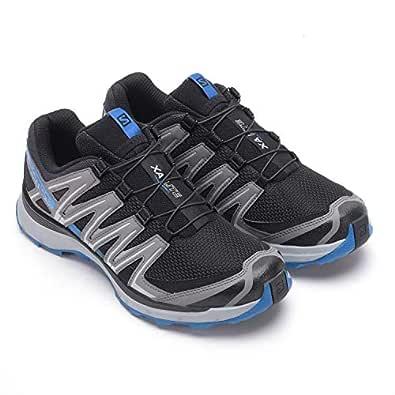 SALOMON Men's XA Lite Trail Running Shoes, Black (Black/Quiet Shade/Imperial Blue), 8.5 US