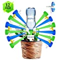 ?2019 NEW?Adjustable Self Watering Spikes? Plant Spikes System Plant Watering Devices with Slow Release Control Valve Switch Self Irrigation Watering Drip Devices for Outdoor Indoor Flower or Vegetabl