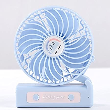 GTVERNH Mini Fan Desktop Student Dormitory Bed Foldable Small Usb Hand-Held Dual Purpose Rechargeable Portable Fan K