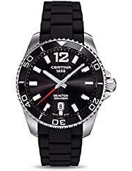Certina DS Action Black Rubber Mens Quartz Watch C0134101705700