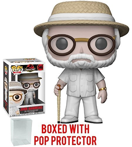 Funko Pop! Movies: Jurassic Park - John Hammond Vinyl Figure (Bundled with Pop Box Protector Case) -