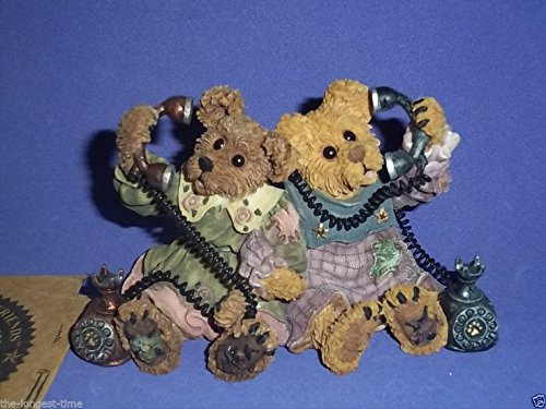 (Boyds Bears & Friends The Bearstone Collection Alexandra & Belle Telephone Tied #24E/2222)