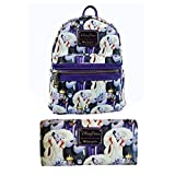 Disney Parks Exclusive Female Villains Loungefly Mini Backpack & Wallet