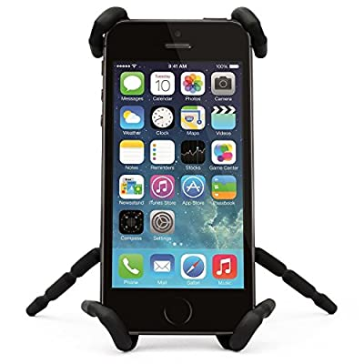 Aurora Universal Multi-function Spider Flexible Phone Car Holder hanging Mount and Stand for iPhone 6 plus/6/5/5S 4/4S and samsung Andriod Phones in Car Bicycle Desk Plane (2 Pack Black)