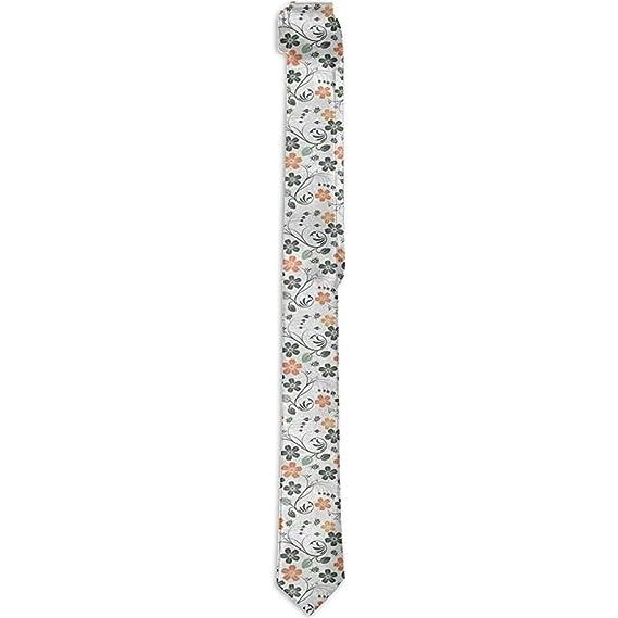 Corbata floral estampada para hombres, naturaleza floreciente con ...