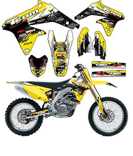 Team Suzuki Decals - Team Racing Graphics kit compatible with Suzuki 2001-2014 RM 125/250, SCATTER