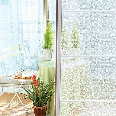 Fancy country matt peonies window film 1 x 5 m window stickers window stickers window stickers
