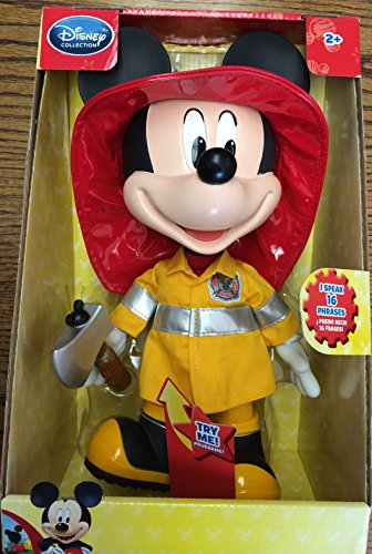 Mickey Mouse Disney Exclusive Clubhouse 13 Inch Fire Rescue Talking Mickey