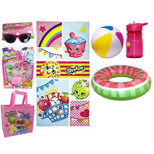Shopkins Mega Beach Set with Towel, Sunglasses, Tote, 5 Pack - And Sunglasses Combined Glasses