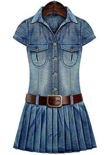 plus size blue jean dress - 2
